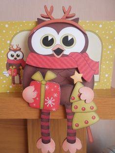 Card Gallery - 3D On the Shelf Card Kit - Christmas Little Hoot Owl
