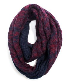 Love this Navy Reversible Infinity Scarf on #zulily! #zulilyfinds