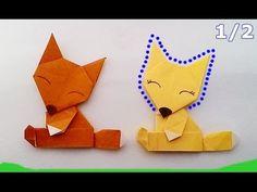 Origami Fox-head...พับสุนัขจิ้งจอก-ส่วนหัว (1/2)