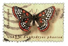 Vintage Butterfly Postage Stamp Art from the Mid 1970's @ Vintage ...