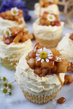 Grain Free Apple Pie Cupcakes from PaleOMG