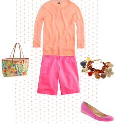 """""""Sunset colors for Spring"""" by milljcrew ❤ liked on Polyvore"""