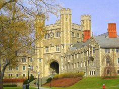 Princeton University campus in New York, found in 1746, 600-acre of Georgian and Gothic architectural styles.