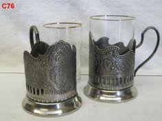 VINTAGE RUSSIAN TEA GLASS HOLDERS SET LOT PODSTAKANNIK ANTIQUE SPUTNIK SOVIET !!!!!!!!  BEAUTIFUL ITEMS!!!!!  ON AUCTION THIS WEEK!!!!!!!