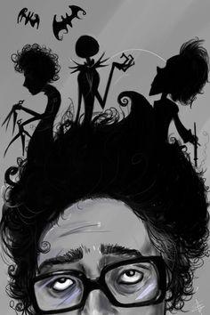 <3 Tim Burton. It's Edward scissor hands, jack skeleton and Vincent