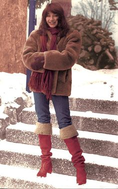 Kate early on thinking about 50 Words for Snow? Shakira, Define Fashion, Star Wars, Red Boots, Fashion Photo, Style Icons, Retro Fashion, Winter Jackets, Style Inspiration