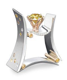 Mark Schneider Platinum ring. .. weirdest looking thing ever but I do love Mark Schneider jewelry.