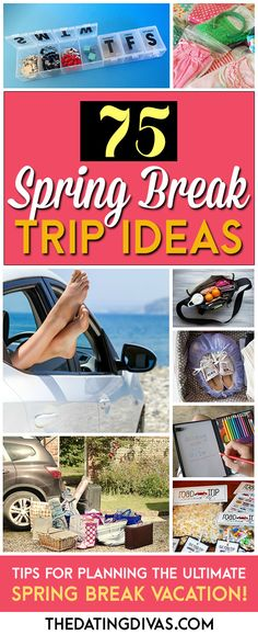 So many clever ideas for Spring Break! I'm counting down the days! www.TheDatingDivas.com