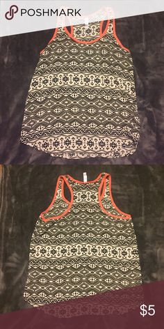 Tribal Print Tank Top Like new no fading • size medium • great addition to a bundle 💸 Xhilaration Tops Tank Tops