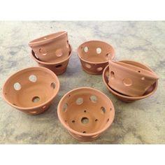 Terracotta Ceramic Orchid Pot