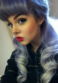 Cute pastel blue / violet hair x