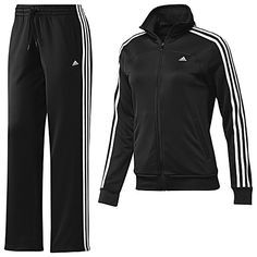 CLASSIC: adidas Essentials 3-Stripes Knit Track Suit  (black/white/white)