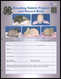 Breeding Rabbit Project and Record Book from Ohio 4-H