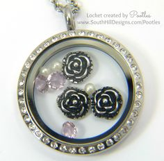 South Hill & Stampin' Up! Coloured Glimmer Paper Cheat Tutorial Lilac Locket Close Up