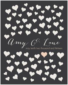 Wedding Guestbook Alternative // Romantic Wedding by HARVEYGREY, $38.00