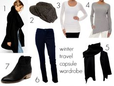 Winter travel capsule wardrobe