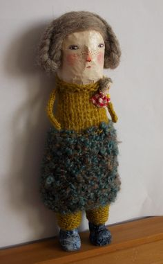 RESERVED  Grace  a papier mache art doll by maidolls on Etsy