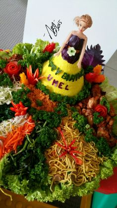 Barbie tumpeng Indonesian food