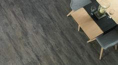 Smoked Timber: Beautifully designed LVT flooring from the Amtico Spacia Collection - Amtico for your home Grey Hardwood Floors, Grey Vinyl Flooring, Vinyl Flooring Kitchen, Luxury Vinyl Flooring, Amtico Spacia, Amtico Flooring, Plank Flooring, Planks, Grey Wood