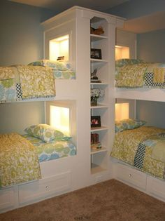 sweet bed room for kids; bunks beds for kids; home decor idea #bedroom #kids…