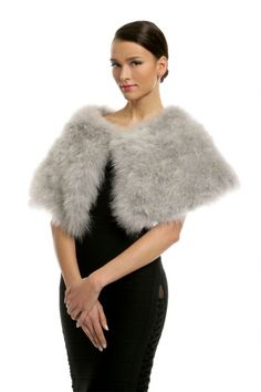 Seasonal Wedding Ideas: Grey Marabou Capelet