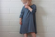 This dress is so cute - I love how this falls. Pair it with leggings and my girls are set for the day