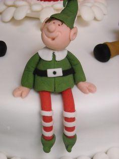 An Elf on the Christmas cake.
