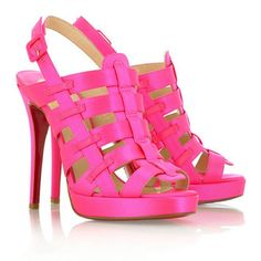 Cheap Christian Louboutin Sandals Paquita Fuxia on sale - $122.66