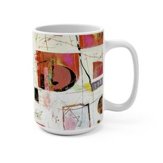 Sue Zipkin is a multi-talented artist who creates cool abstract paintings. This mug would make a really unique gift. Abstract Paintings, Abstract Art, Funky Home Decor, Coloring Book Pages, Color Of Life, White Ceramics, Gift Guide, Dinnerware, Modern Art