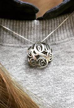 3D Monogram Necklace in Silver or Gold ✨