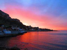 Tramonto sul Golfo di Sferracavallo Palermo (Maggio 2013)