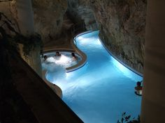Thermal baths inside a cave, Miskolc-Tapolca, Hungary.