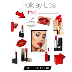 Holiday Lips, red edition. Find the perfect red lip for all your special Holiday occasions. #makeup #redlips #holidaymakeup