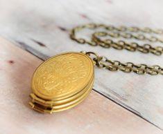 Gold Locket FREE SHIP Necklace Jewelry Children by LimonBijoux