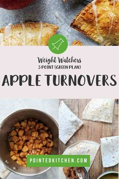 These easy to make Apple Turnovers are just 2 SmartPoints per serving on Weight Watchers Blue, Purple Freestyle plans. They are 3 SmartPoints on the Green plan. If you are looking for a low point WW dessert then you will love these! Weight Watchers Apple Recipes, Weight Watchers Desserts, Quick Apple Dessert, Blondie Dessert, Weight Watcher Cookies, Sugar Free Pudding, Apple Turnovers, Ww Desserts, Greens Recipe