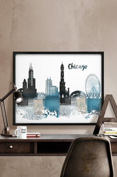 Hey, I found this really awesome Etsy listing at https://www.etsy.com/listing/246273701/chicago-print-chicago-skyline-chicago