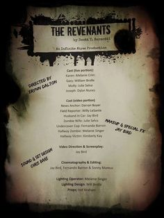 """The Revenants,"" directed by Erynn Dalton at Infinite Abyss Productions in Fort Lauderdale."