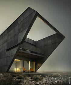 Architectural renderings by Adam Spychała