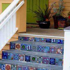 Looking for a way to spice up our front steps.