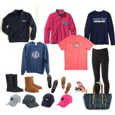 Want these- minus the black boots and Nike shoes! Preppy Girl, Preppy Style, My Style, Fall Winter Outfits, Autumn Winter Fashion, Summer Outfits, Sporty Outfits, Cute Outfits, Monogram Pullover