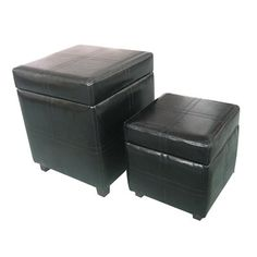 $164.00  The Avalon 2-Piece Square Storage Ottoman is a great value, giving you two practical ottomans in one compact package - a large square storage ottoman and a regular ottoman. Both can be used as footrests or seats in any room of the house.