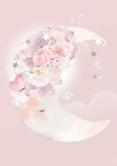 Welcome to 'The Romance Collection'. A new series of Limited Edition artworks featuring four enchantingly beautiful characters found nestled in a faraway land. All pieces are hand signed, titled, numbered and dated. Nursery Prints, Nursery Art, Girl Nursery, Cute Wallpapers, Wallpaper Backgrounds, Iphone Wallpaper, Large Artwork, Good Night Moon, Moon Print