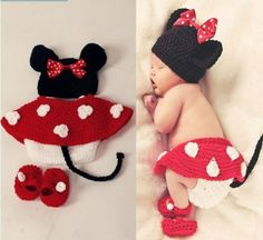 Infant Girl Baby Hat Skirt Pants Shoes Crochet Knit Photo Prop Outfit Clothes | eBay