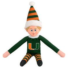Miami Hurricanes Plush Elf On The Shelf