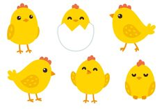 Cute baby chickens patterns Graphics A set of 6 cute hand drawn yellow baby chickens and 2 seamless tileable patterns. Simple and adorabl by Irina Mir Chicken Clip Art, Chicken Vector, Chicken Drawing, Cartoon Chicken, Cute Chickens, Baby Chickens, Chicken Illustration, Pattern Illustration, Chicken Tattoo