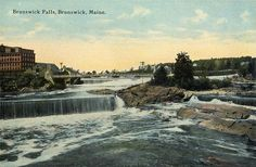 Brunswick Falls, Brunswick, ME | c. 1912