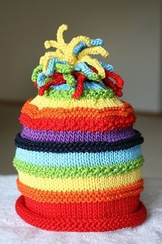 Great idea Rainbow hat for any age!