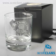 Home Clan Crest Whisky Glass. Free worldwide shipping available
