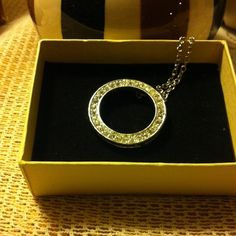"""Circle of life Cubic Zirconia necklace Beautifully round with 9"""" necklace.  A must have for any wardrobe ! Jewelry Necklaces"""