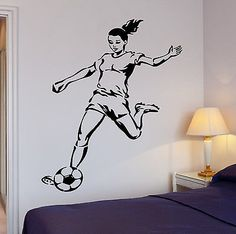 Soccer Wall Decor girl soccer wall decal with name for grils sports vinyl wall decor